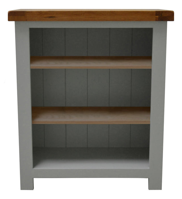 Camborne Painted Oak Low Bookcase / Shelving Unit