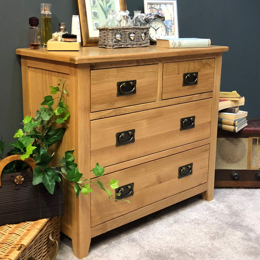 Grange Oak 2 Over 2 Chest of Drawers