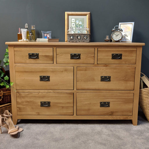 Grange Oak 7 Drawer Multi Chest of Drawers