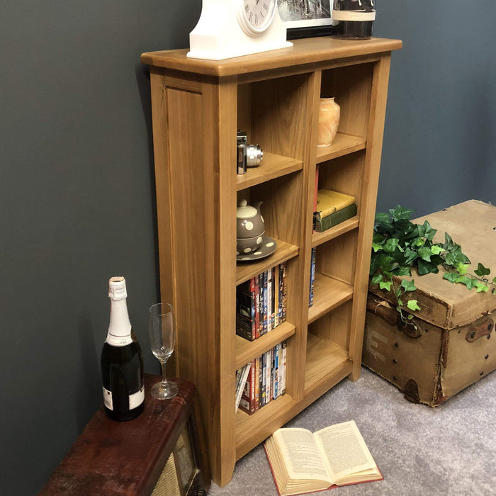 Grange Oak DVD Storage Unit / Bookcase