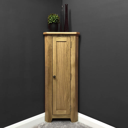 Grange Oak Narrow Corner Cupboard