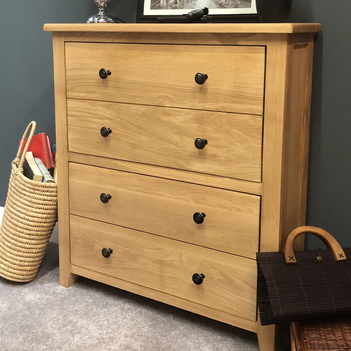 Grange Oak Shoe Storage Cupboard