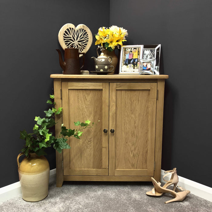 Grange Oak Small Corner Cupboard
