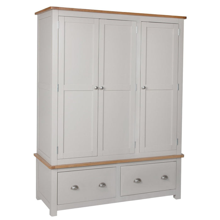 Portland Oak 3 Door Wardrobe