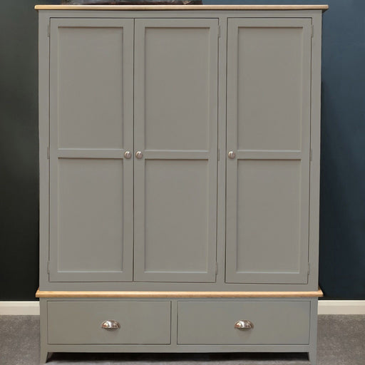 Grateley Painted Oak Triple Wardrobe