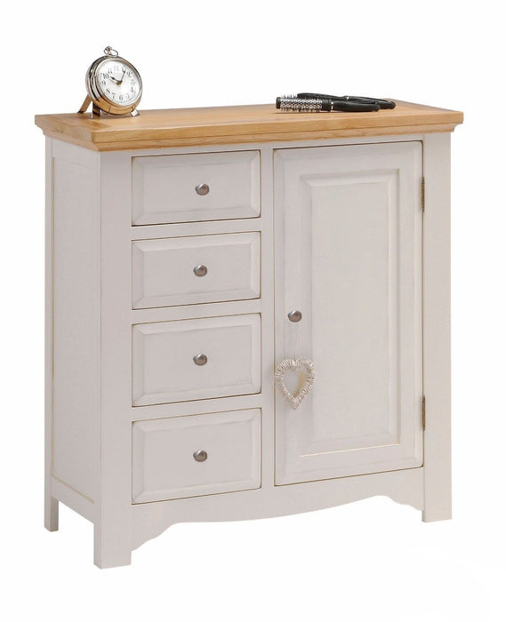 Norfolk Grey Painted Oak Drawer Linen Combination Cabinet