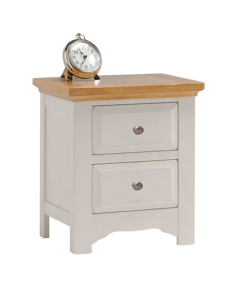Norfolk Painted Oak 2 Drawer Bedside Table