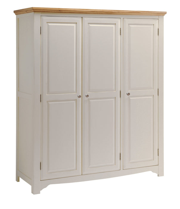 Norfolk Painted Oak 3 Door Triple Wardrobe