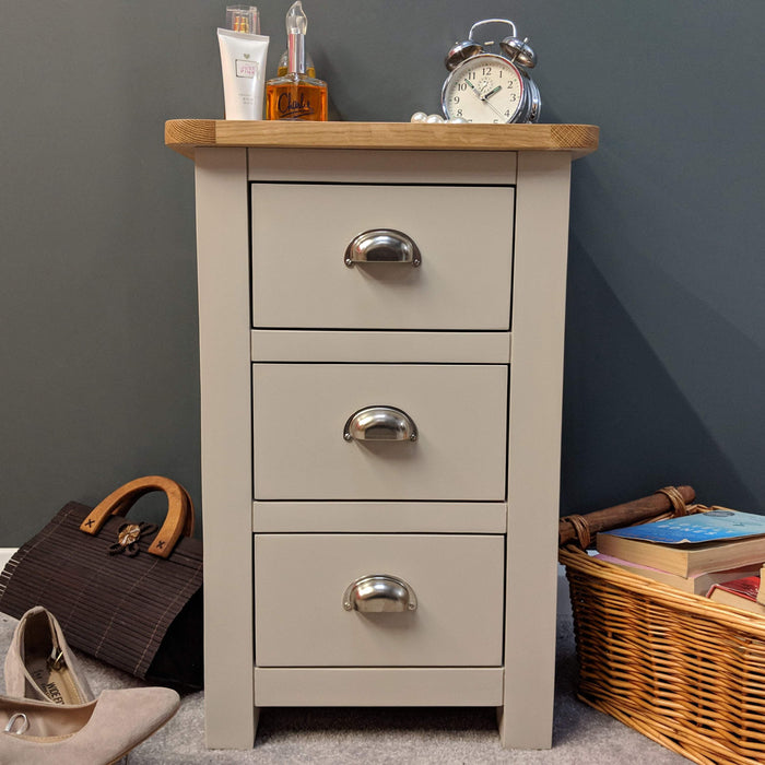 Sutton Oak 3 Drawer Bedside Chest