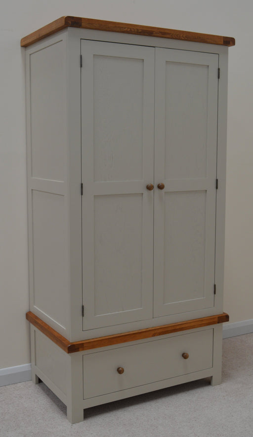 Croft Painted Double Wardrobe with Storage Drawer