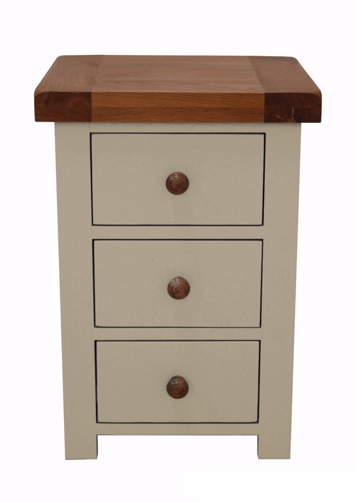 Croft Painted oak 3 Drawer Bedside Chest