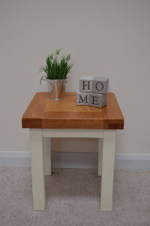 Croft Painted Oak Lamp Table / End / Side Table