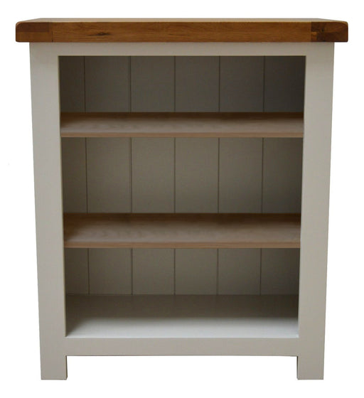 Croft Painted Oak Low / Small Bookcase