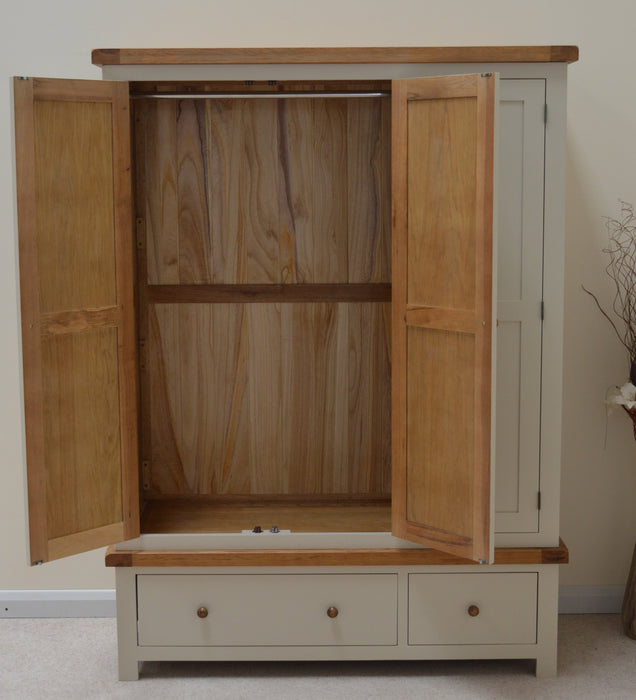 Croft Painted Triple Three Door Wardrobe with Storage Drawers
