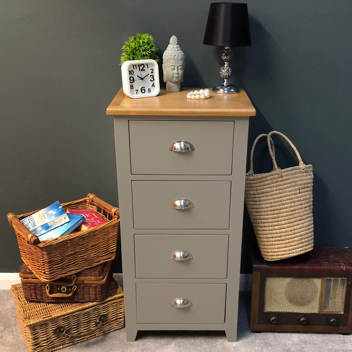 Grateley Painted 4 Drawer Narrow Chest of Drawers