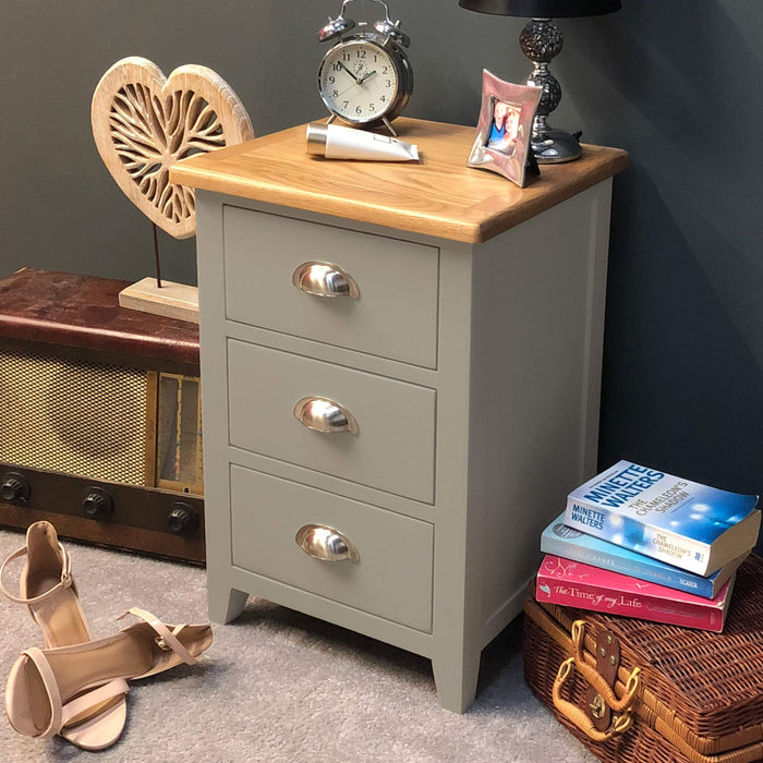 Grateley Painted Bedside Chest of Drawers