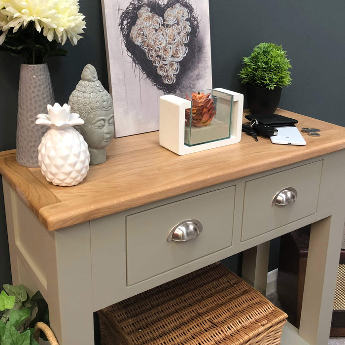 Grateley Painted Oak Console Table