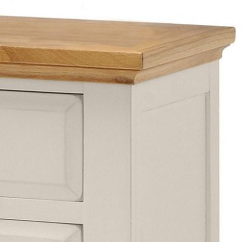 Salisbury Painted Oak 2 Drawer Bedside Table