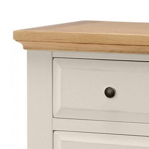 Salisbury Painted Oak 7 Drawer Wide Multi Chest of Drawers