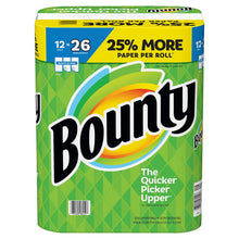 Load image into Gallery viewer, Bounty Paper Towels, White, 12 Huge Rolls = 26 Regular Rolls