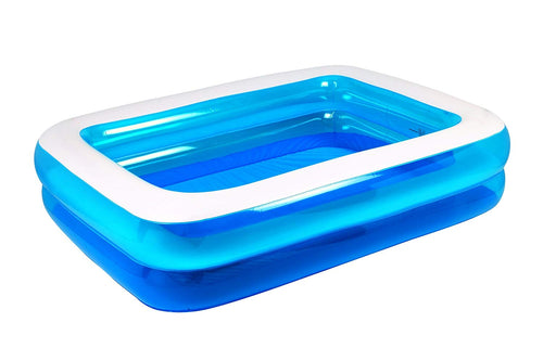 Jilong Rectangular Inflatable Kiddie Pool, Blue, 79