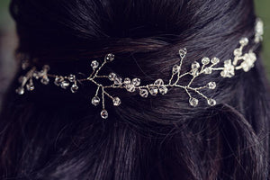 wedding hair vine in the hair
