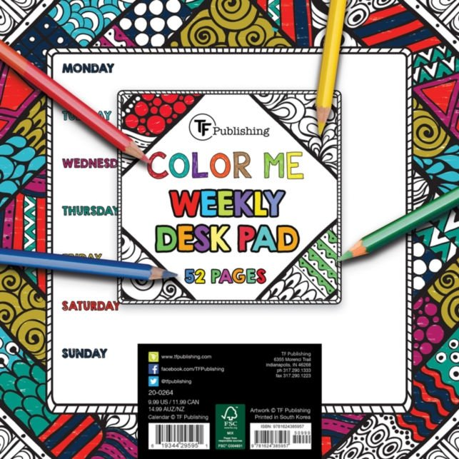 Color Me Weekly Desk Pad from TF Publishing - The Teacher Trove