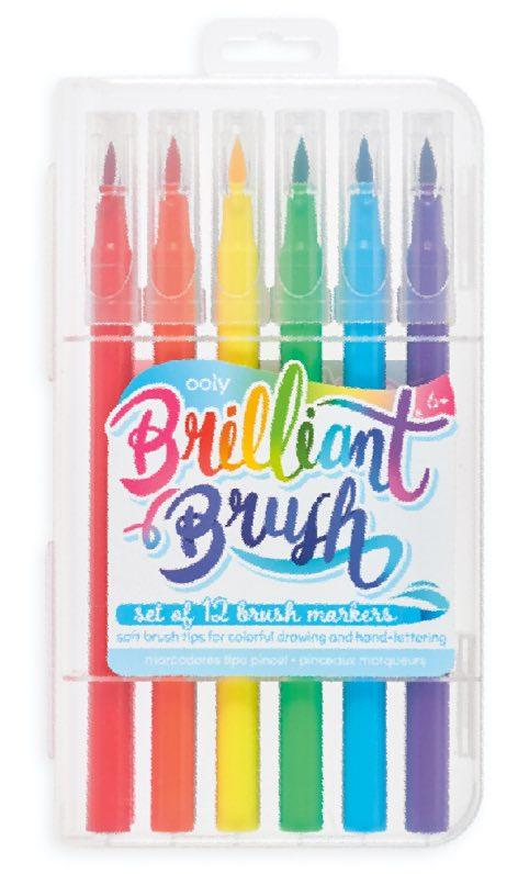 Ooly Brilliant Brush Markers 12ct - The Teacher Trove