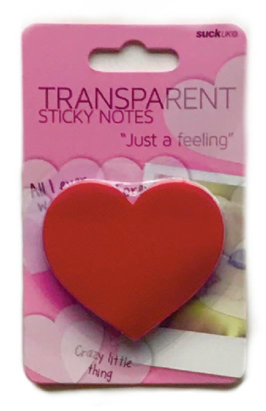 Red Transparent Heart Sticky Notes - The Teacher Trove