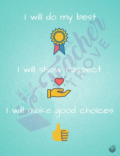 Student Affirmation Printable Poster Set (10 Count) - The Teacher Trove