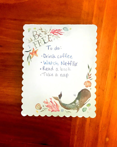 Whale Be Free Notepad by Katie Daisy - The Teacher Trove