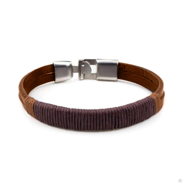 Brown Hitch Leather Bracelet