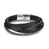 Black Roy Leather Bracelet