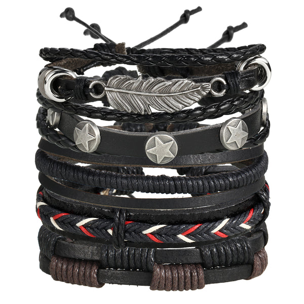 Westside Leather Bracelet Set