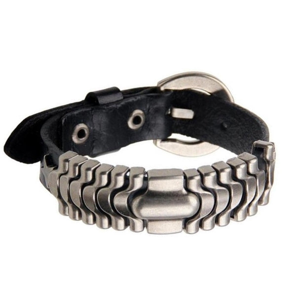 Black Belt Leather Bracelet