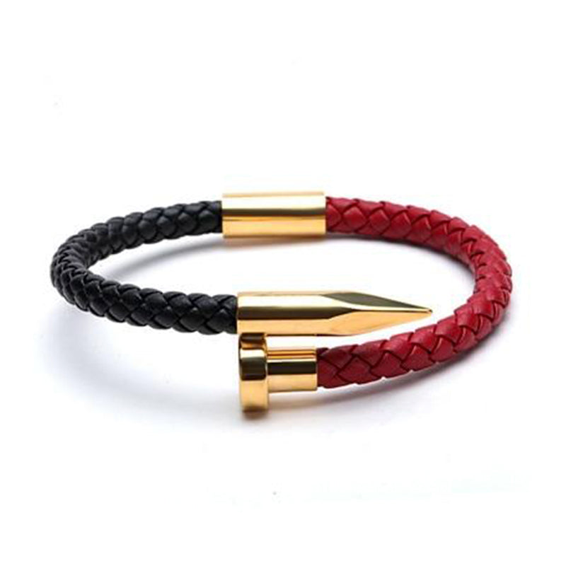 Gold Magnetic Leather Bracelet