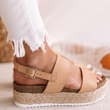 Sandalsvibe Casual Espadrille Platform Sandals (Ship in 24 Hours)