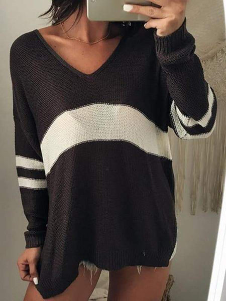 Sandalsvibe Sexy V-neck Knitting Sweater
