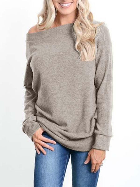 Sandalsvibe Cold Shoulder Long Sleeve Pullover