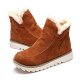Sandalsvibe Fur Lining Ankle Snow Boots