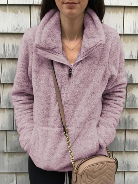 Sandalsvibe Winter Warm Comfy High Neck Zipper Coat