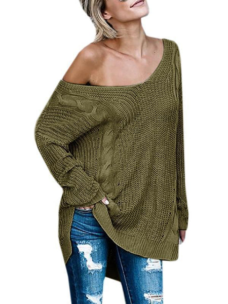 Sandalsvibe  V Neck Cross Knitting Sweater