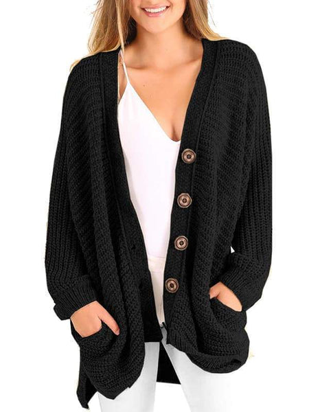 Sandalsvibe Boyfriend Long Cable Knit Cardigan