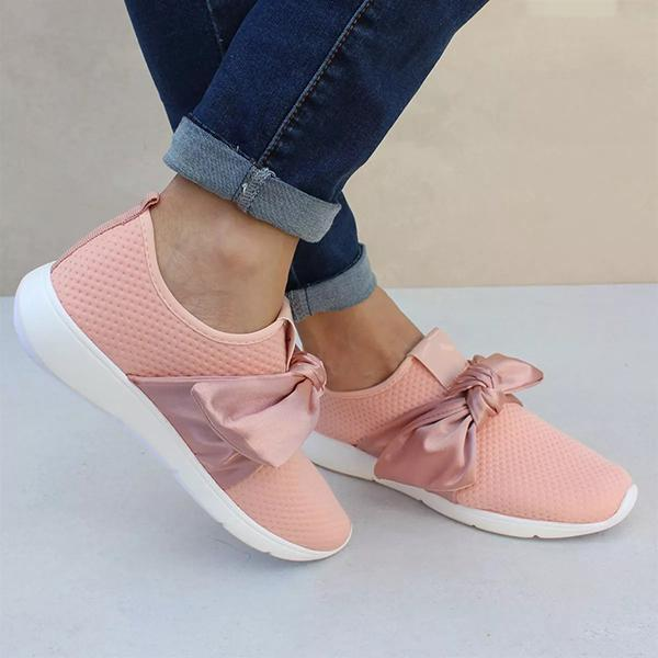 Sandalsvibe Casual Comfy Bow Sneakers