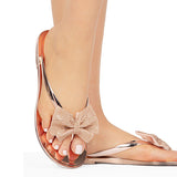 Sandalsvibe Faux-Crystal Bow Slippers