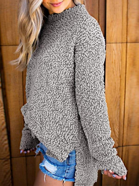 Sandalsvibe Fuzzy Sherpa Fleece Sweater