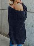 Sandalsvibe Off The Shoulder Oversized Comfy Sweater