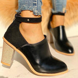 Sandalsvibe Ankle Strap Chunky Heels