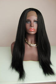 Light Yaki Keratin Fiber Synthetic Wig