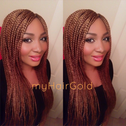 Box Braids in Light Auburn